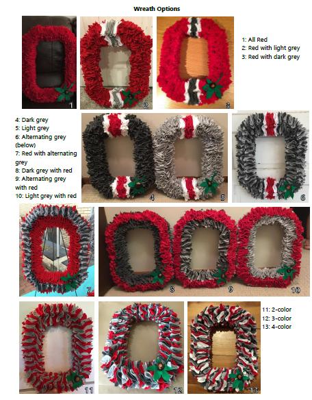 All 13 OSU wreath style options.
